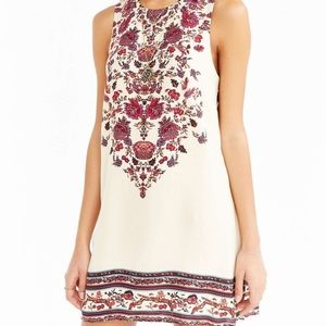 UO Ecote Guinevere Open Back Floral Frock Dress